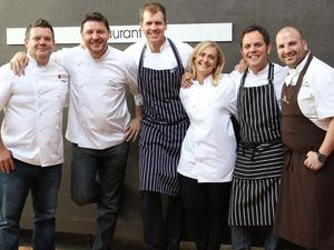 Celebrity chefs  cruise in to help their mate Matt Golinski