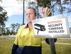 Gympie Cemetery Trust supervisor Lee Selby is so upset by recent problems at the Gympie Lawn Cemetery he has installed video cameras to help catch vandals.