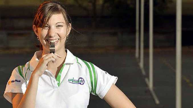 GOOD FEELING: Ipswich netball umpire Rachel Meadows is moving up the competition ranks.