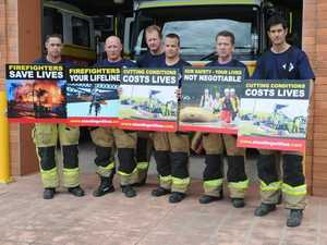Local firefighters take a stand against budget cuts