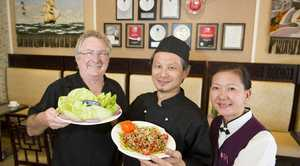Co-owners of Qi'Lin Oriental Cuisine (from left) Daryll Scott, Stanley Poon and Annette Cheung. The restaurant has been awarded Australia's best chinese restaurant in the 2012 Savour Australia Restaurant and Catering Awards, Tuesday, October 30, 2012. Photo Kevin Farmer / The Chronicle