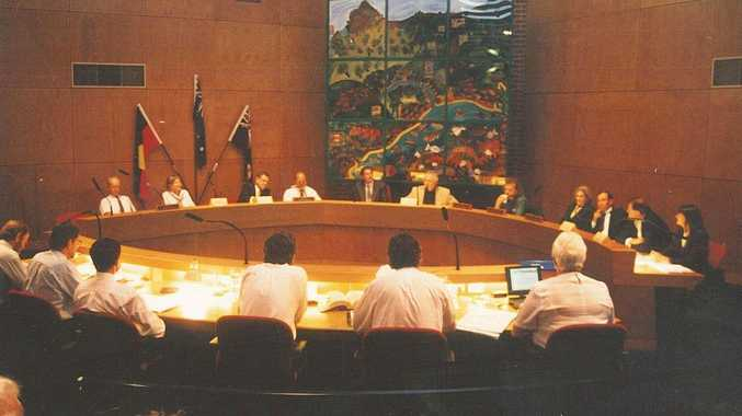 FLASHBACK. A council meeting in the Mullumbimby chambers in 1999 with Tom Wilson in the mayor's chair. Photo Gary Chigwidden / Byron Shire News