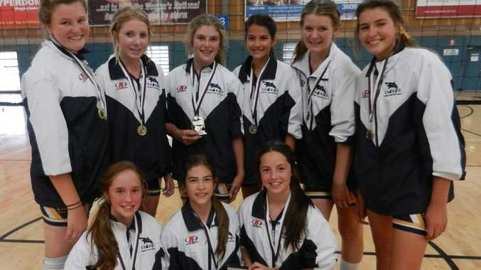 The Year 8 girls volleyball team from Gladstone SHS won the the 2012 Junior State Championships for their age division.