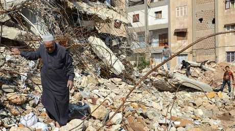 Civil war raging in Syria.