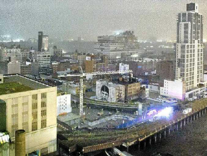 Transformers explode in Manhattan.