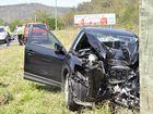 Woman injured in heavy impact Range crash