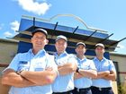 Gympie Police Station's new police on the beat, constables Jon Stevens, Andrew Bergmann, Jeremy Gardiol and Ben Morrow will spend their first year of policing in the Gympie community.