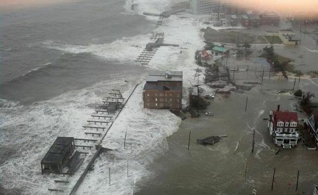 DISTRUCTION: The Atlantic City boardwalk was wiped out as a result of Hurricane Sandy. Photo Contributed