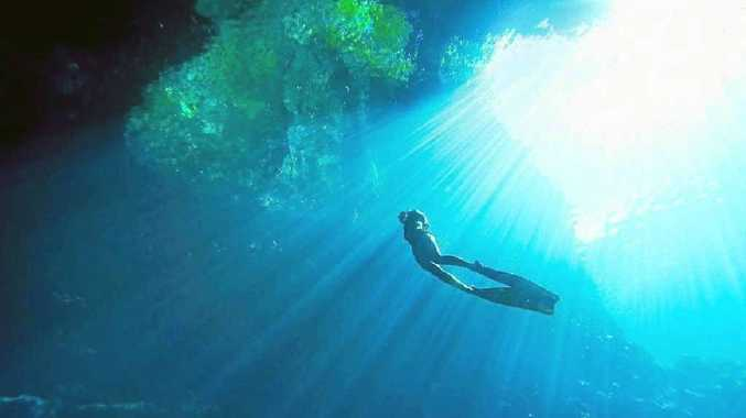 ADVENTURER: Kylie Maguire, originally of Lennox Head pictured during one of her dives.