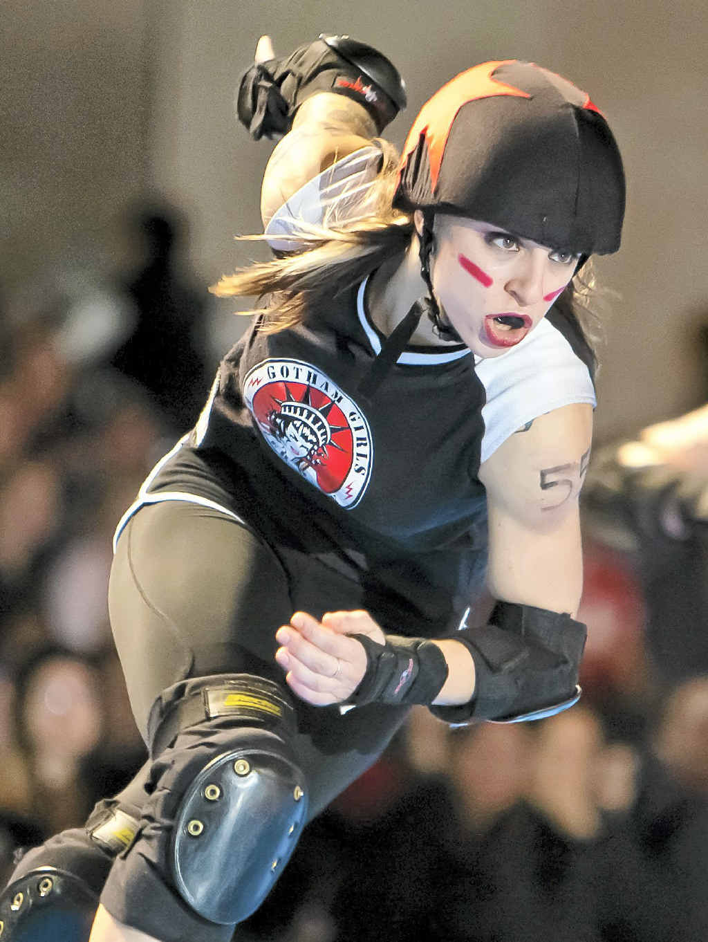 Suzy Hotrod is one of the Gotham City Girls heading to Australia for the Roller Derby Xtreme tour.