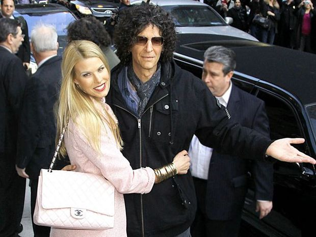 Howard Stern and his wife Beth Ostrosky.