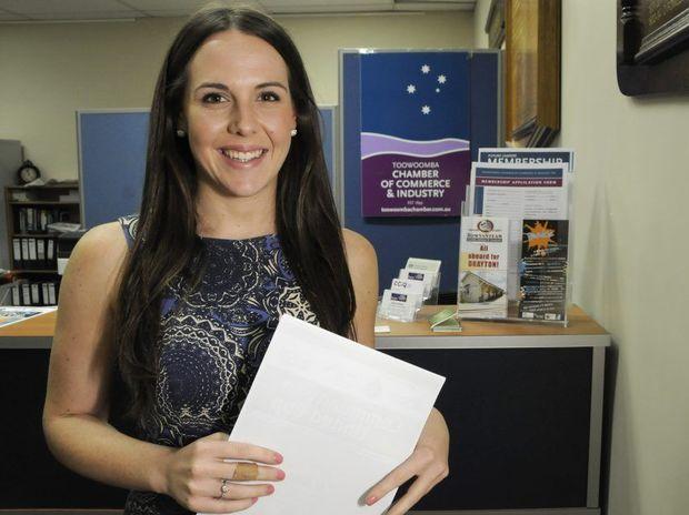 Toowoomba Chamber of Commerce employee Kristina Blue.