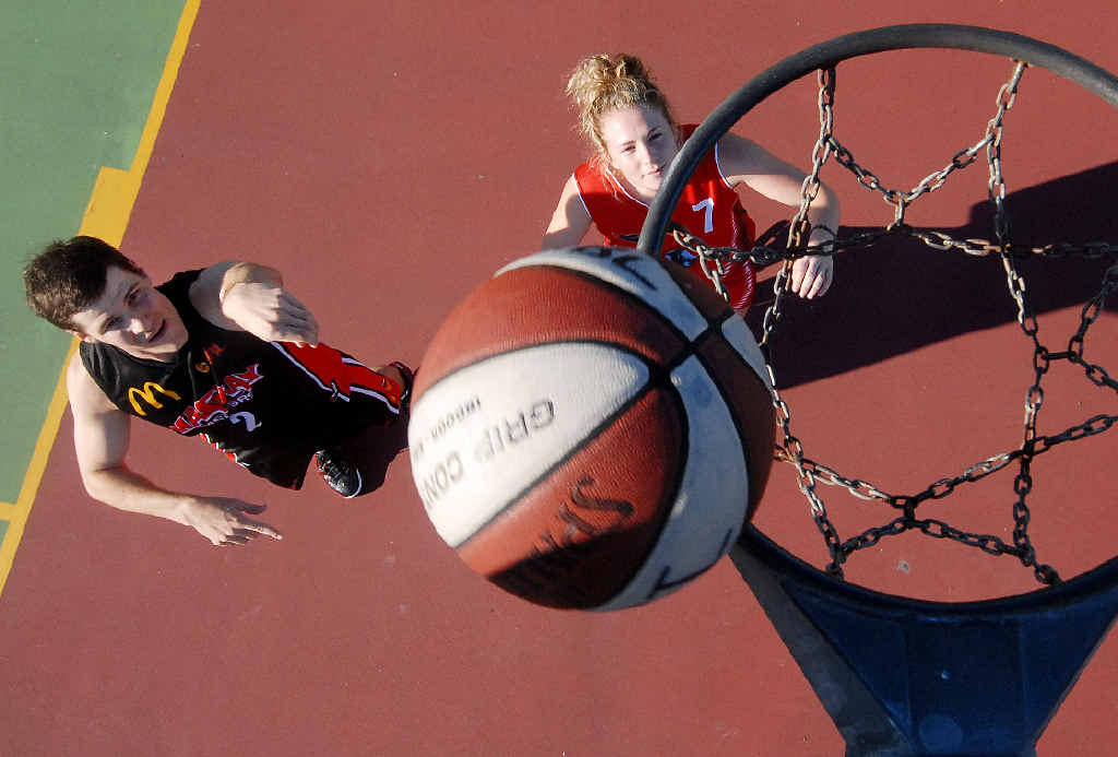 ON COURT: Youth basketballers Sam Bartolo and Rylie Smith are ready to play for Mackay.