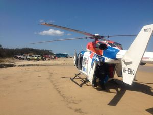 Fraser Island resident airlifted to hospital with chest pain