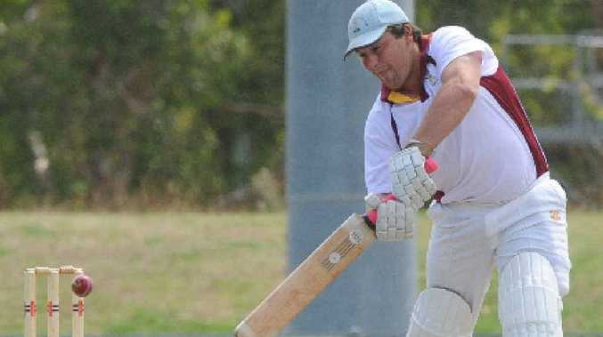 RUNS THERRE: Clarence batsman Tim Tilse cuts during the SCG Shield match against Lismore at Oakes Oval, Lismore, yesterday.