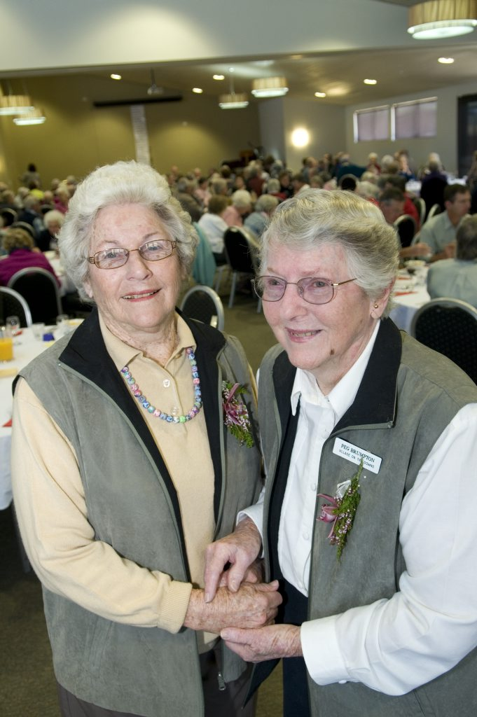 Village on the Downs&squot; first residents, sisters Lorna Miller and Peg Brumpton.