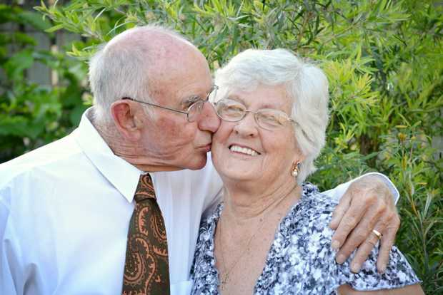 LOVE SHINES: Hilary and Keith Gallagher will soon celebrate their 60th wedding anniversary. Photo: Chris Owen / The Satellite