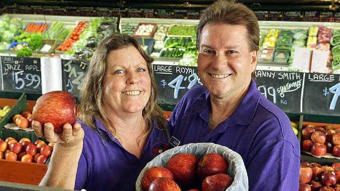 TOP SHOP: Christina and Mark Vogler from Aratula Markets.