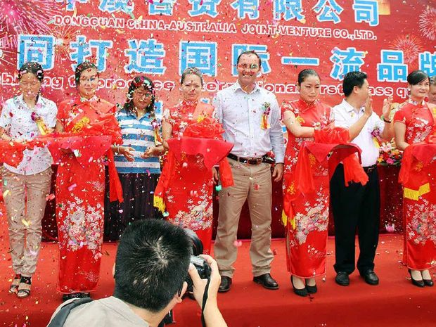 JOINT SUCCESS: West Ipswich-based business Santrev open their first factory in China.