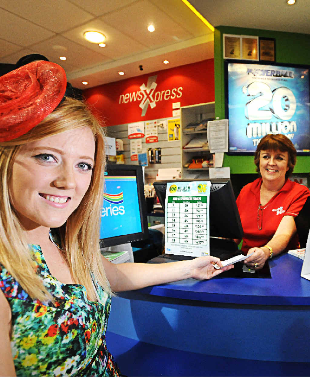 TICKETS PLEASE: Gabi Jeffery is looking for a windfall with both the Melbourne Cup and Oz Lotto.