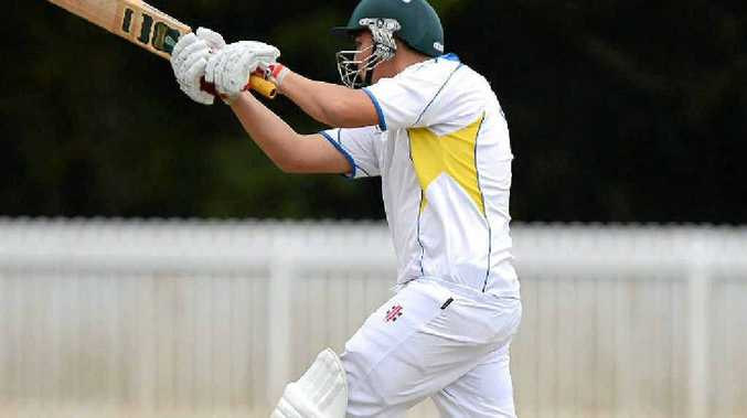 Nambour batsman Sam Parson on the attack against Hinterland at Palmwoods.