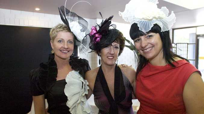 The Northern Star's Janet Bowden, Sharon Dowlin and Our Kids fundraising coordinator Rebekka Battista at last year's Our Kids Melbourne Cup Luncheon.