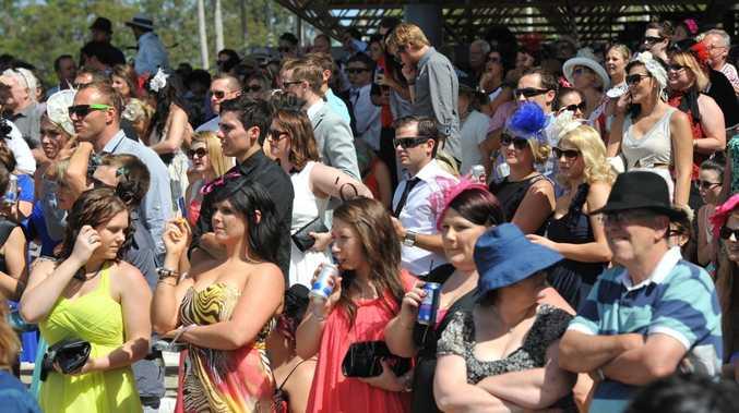Melbourne Cup celebrations at Corbould Park. Crowds enjoy the day.