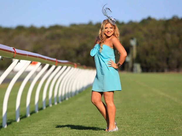 Emily Berlin, 20, is set to take part in the Fashions on the Field at Corbould Park today.