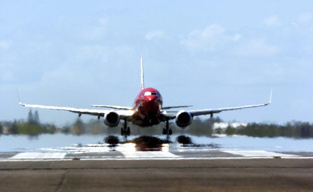 A Virgin flight takes off at the Maroochy Airport. Photo Barry Leddicoat / Sunshine Coast Daily