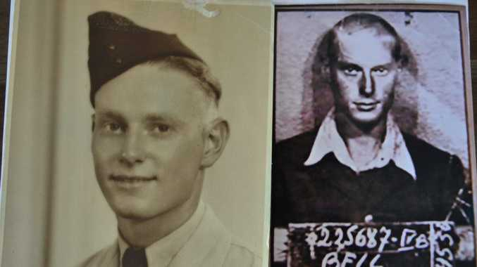 BEFORE AND AFTER: Corporal Jack Bell before the war (left) and as a prisoner-of-war. Photo contributed.