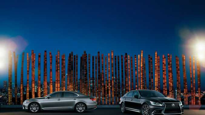 The new Lexus LS line that will go on sale next year was previewed at the Melbourne Cup.