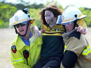 Emergency drill at airport causes dramatic scene