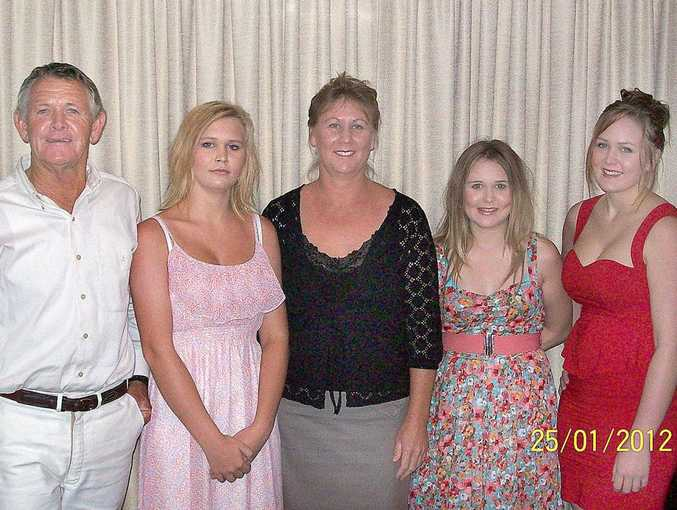 Russell, Curtsie, Terri, Ophelia and Elizabeth Silcox pose for a family portrait earlier this year.