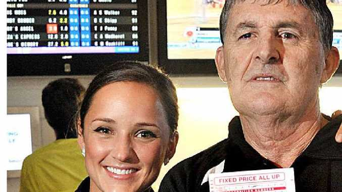 North Shore Tavern's Brooke Miller with Jack, who won $68,000 on Melbourne Cup Day.