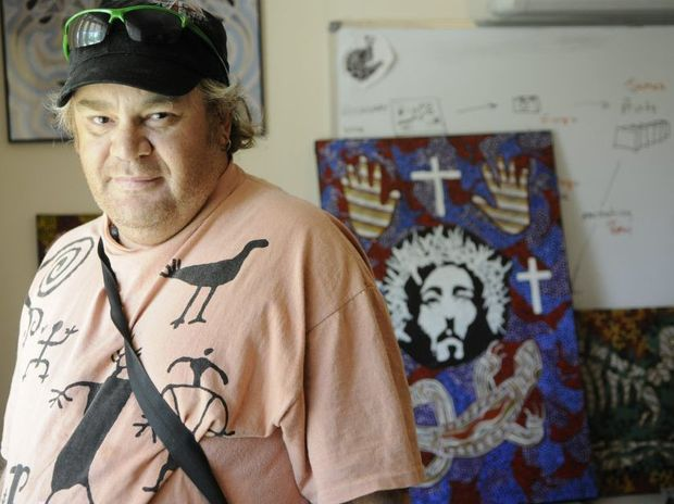 Artist Aaron Marsh is participating in a group to help Indigenous artists create and market their works.