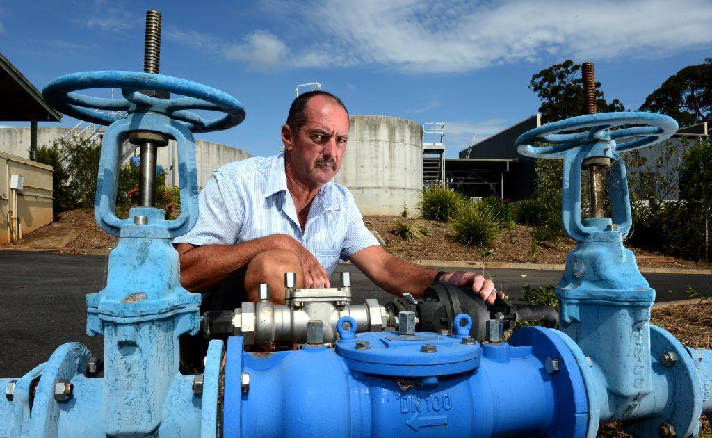 Gary Cain at Bray Park water treatment plant. Photo: John Gass / Daily News