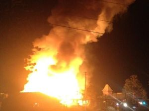 Crews battle blaze at Railway Workshops