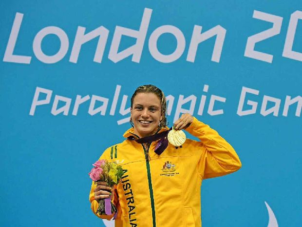 Jacqueline Freney pictured during the London Paralympics.