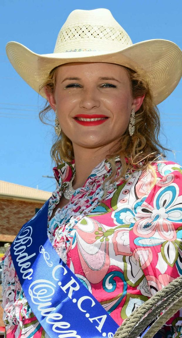WINNER: CRCA Rodeo Queen for 2013 Sara Malone said all her dreams had come true after winning the crown.