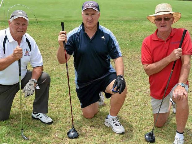 Warwick Cowboys reps Brian Sullivan and Danny Lyons and Warwick Golf Club president Don Stewart are seeking more nominations for the Cowboys' day.
