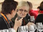 Maryborough identity Carmel Murdoch (right) and Linda Black in the wine tasting tent at the inaugural Portside Food and Wine Fest in June this year.