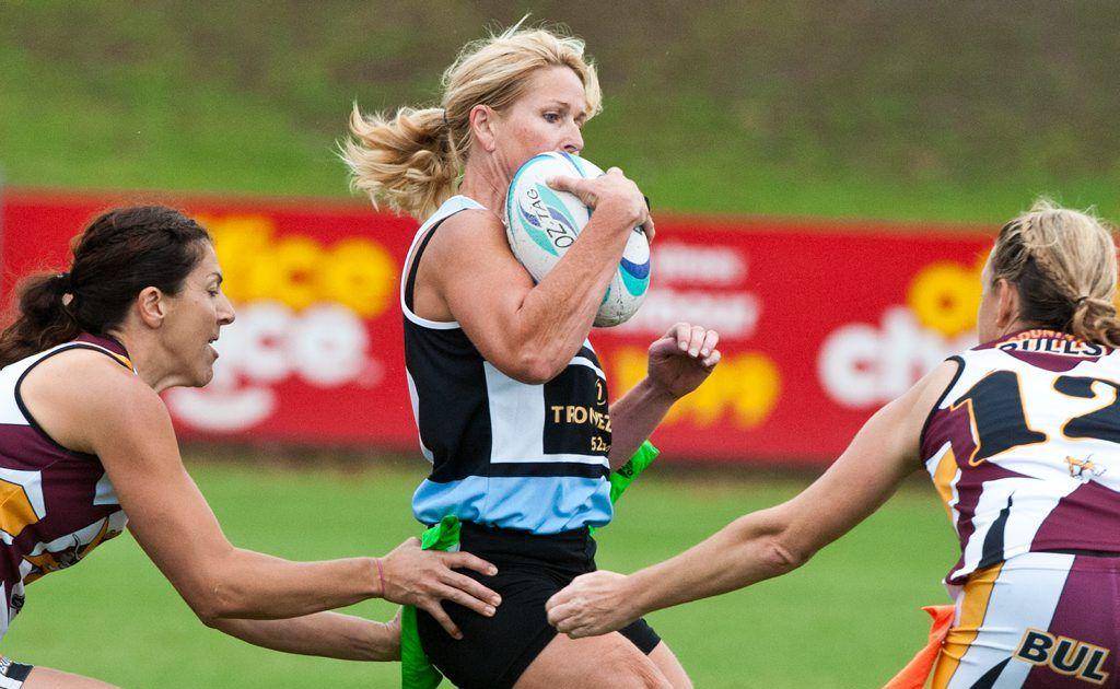 Australian Oztag Championships at BCU Stadium, ladies: Country Bulls vs Cronulla. Photo: Rob Wright / The Coffs Coast Advocate