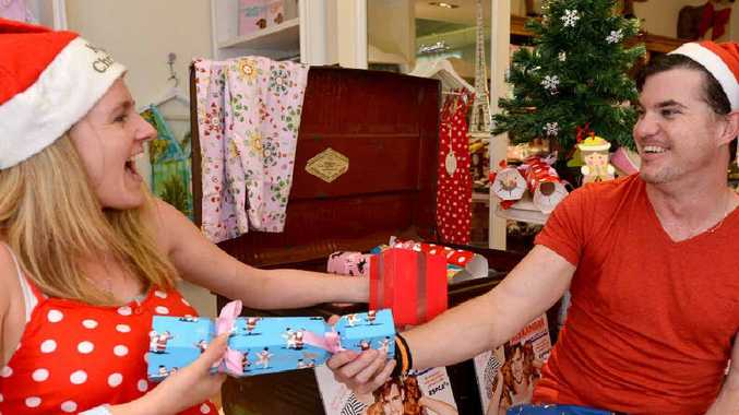 Peter Alexander's manager Shelley Tanti and staff member Kris Brennan have a store full of Christmas gifts for customers to choose from.