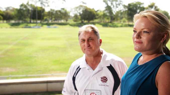 Joe Fenech and Sherylene Stevens at Rugby Park.