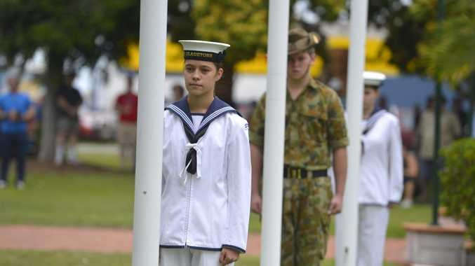 Remembrance Day ceremony at Anzac Park, Gladstone. Steph Ludwicki. Photo Christopher Chan / The Observer