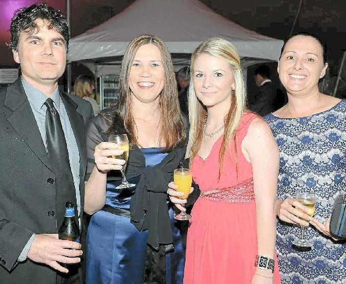 BIG NIGHT: Stephen Hammond, Deborah Hammond, Sharra Hoskin and Rebecca Moller at the 18th Sunshine Coast Business Awards.