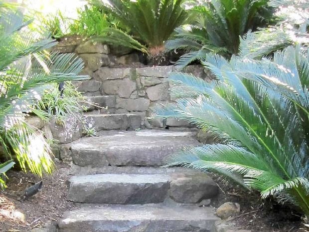OPEN GARDEN: Attractive steps give easy access.