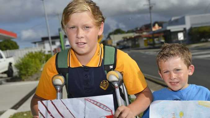 Kane Costigan, 13 and Michael Fitzgerald, 6 are winners of a calendar competition.