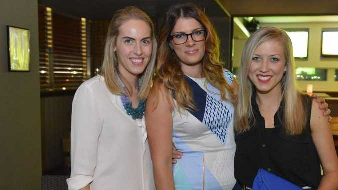 Annabel Johnson, Kaitlyn Merrin and Christie Bryant at the Young Professionals networking events.