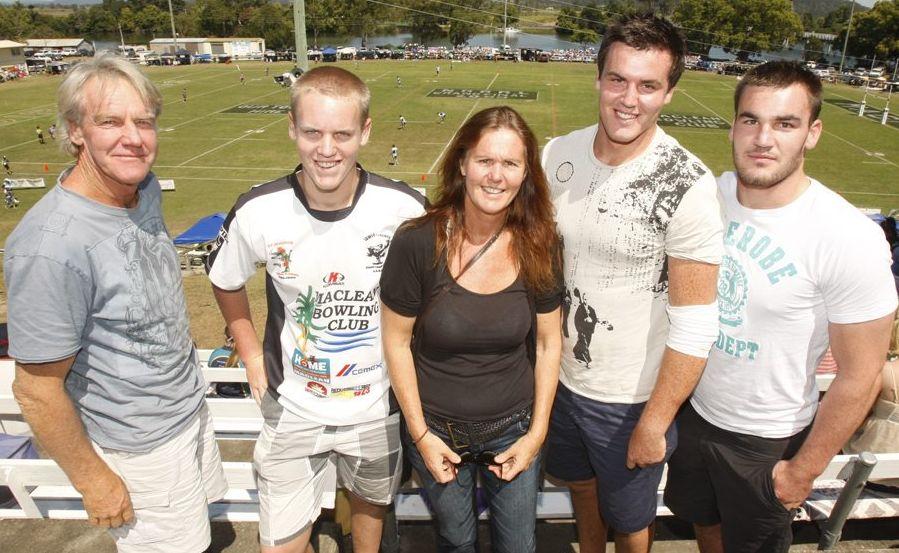 A file photo of the Douglas family, Chris Jake, Trish, Kane and Luke in 2009.